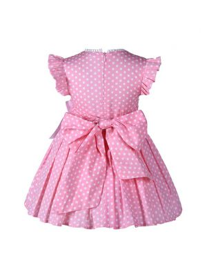 Pink Dots Girl Dress