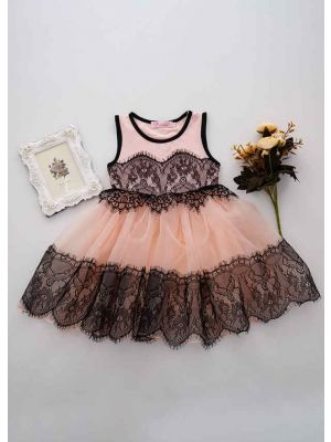 Light Pink Lace Dress Party Dress For Girl