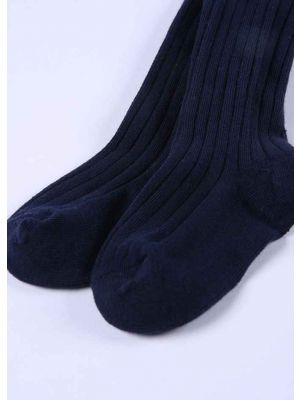 Navy Blue 100% Soft Cotton Girls Pantyhose