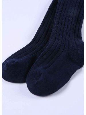 Navy Blue 100% Soft Cotton Girls Pantyhose