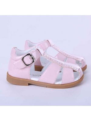 Dark Pink Fashion Microfiber Leather Boys Sandals Shoes