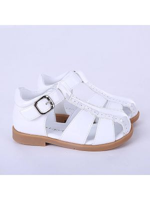 White Fashion Microfiber Leather Boys Sandals Shoes