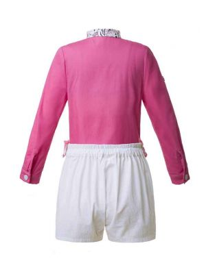 Long Sleeve Hot Pink Boy Clothing Set