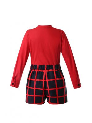 Red Plaid Boy Clothing Set