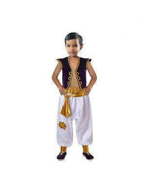 Boys Aladdin Costume Clothing Set