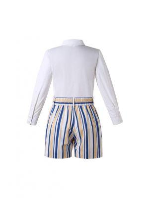 Boys 2-Piece Long Sleeve & Shorts Clothes Set