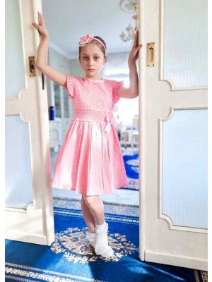 Pink Dots Girl Dress