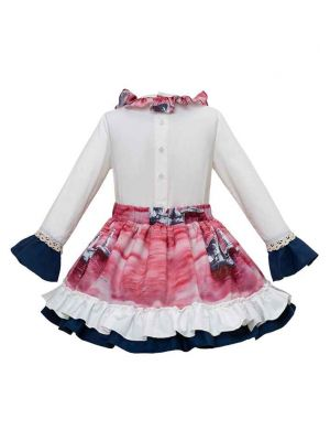 Flower Printed Girls Clothing Set