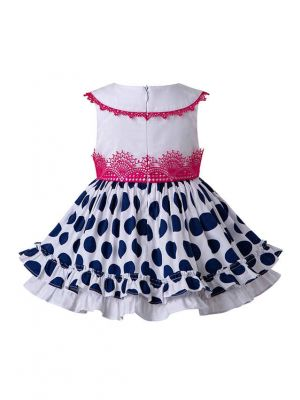 3 Pieces Babies Polka Dot Ruffled Boutique Cute Outfits + Polka Dot Bloomers + Hat
