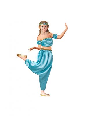 Girls Jasmine Princess Sets Cosplay Costume Halloween Party Dress