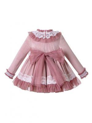 3 Pieces Lace Knitted Velour Fabric Babies Autumn Dress + Cotton Shorts + Bonnet