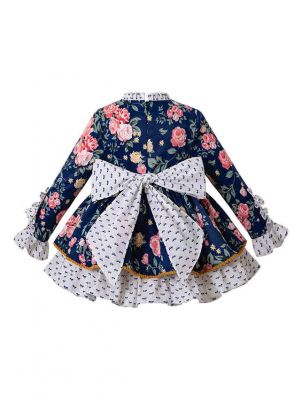 3 Pieces Boutique Babies Floral Rose With Back Bow Outfits + Floral Bloomers + Hat