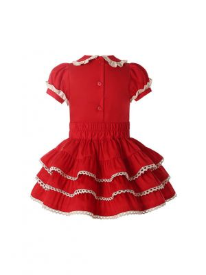 Baby Girls 2-piece Red Short Sleeve Clothes Set for Christmas