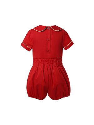 Baby Christmas Unisex Red Short Sleeve Top + Red Shorts