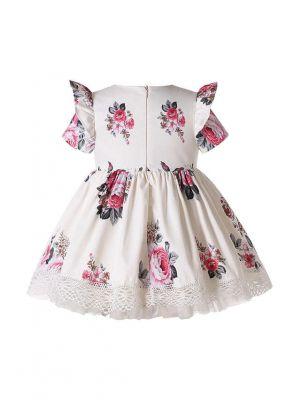 2-Piece Short Sleeve Babies Printed Dress