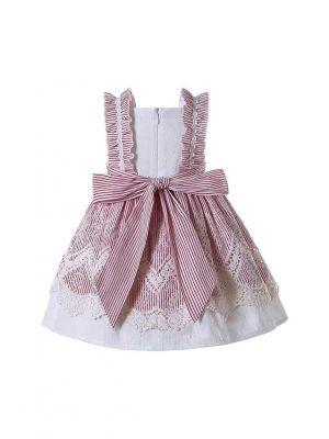 Baby Girls Sleeveless Dress for Summer + Handmade Headband