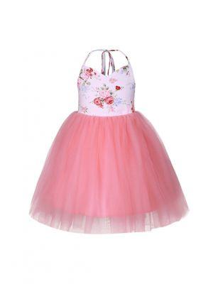 Girls Flower Kids Summer Backless  Dress