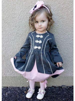 Vintage Party Girl Grey Dress