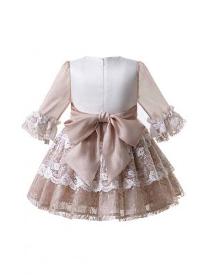 Birthday Party Flower Lace Princess Ceremony Girl Elegant Wedding Communion Dresses