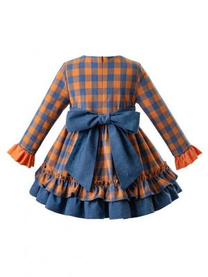 2019 New Elegant Orange Dress With Headband