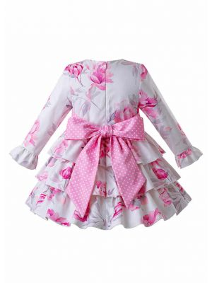 (Only 10Y)Spring Floral Party Dress