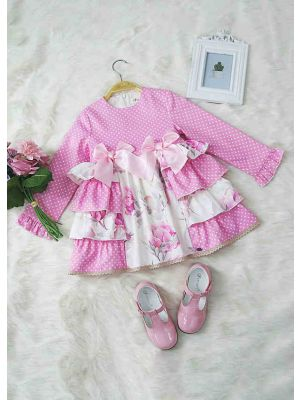 Pink Flower Printed Dress