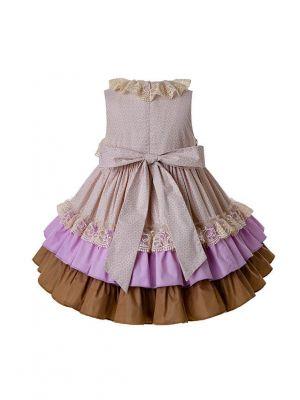 Shining Lace Dress With Headwear
