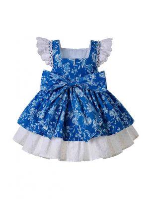 Light Blue Bow-knot Dress