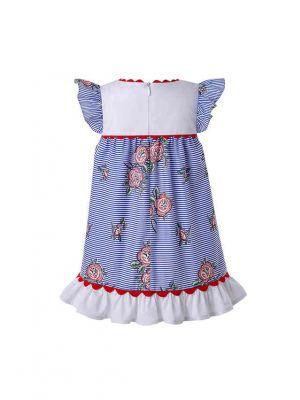 Printed Ruffled Doll Dress&Hairband