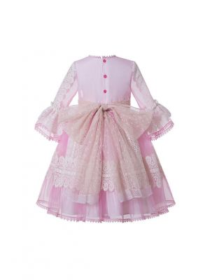 Girls Emboridery Yarn Dyed & Paisley Patten Vintage Girls Dress
