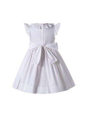 Summer Babies White Smocked Dress