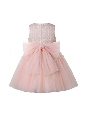 2021 New Arrival Cute Cotton Yarn Sleeveless Flowers Pink Girls Dress