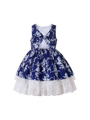 Cozy A-line Sleeveless Summer Dark Blue Dress