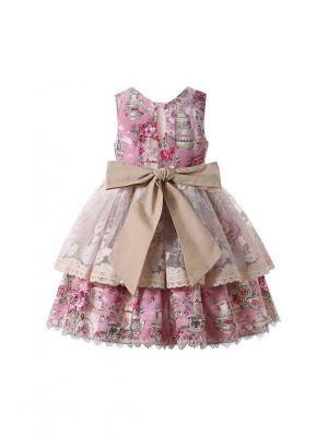 Sweet Sleeveless Girls Lace Dress