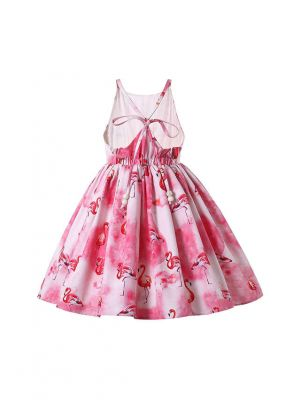 Pink Flamingo Patterns Summer Girls Dress