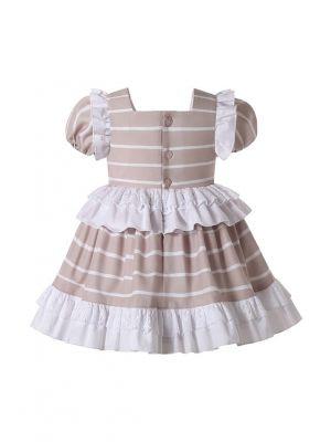 Summer Short Sleeve Baby Ruffle Dress + Handmade Headband