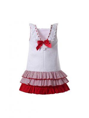 Square Collar White Dress + Handmade Headband