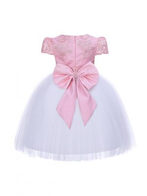 Girls Flower Feast Bow Party Dress