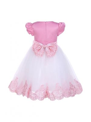 New Girl Party Dress White&Pink