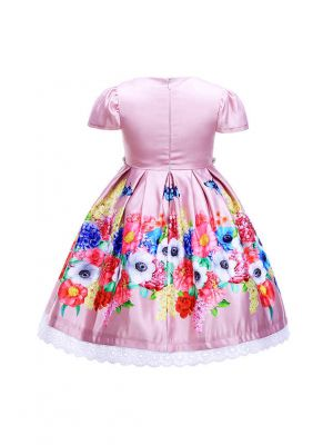 Latest Girl Flower Dress Pink Floral