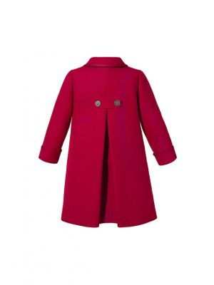 Girl Vintage Red Double-Breasted  Coat