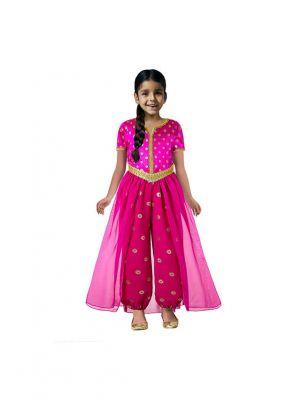 Girls  Pink Fuchsia Mesh Outfit