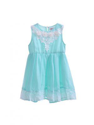 Summer Flower Chiffon Lace Wedding Dress