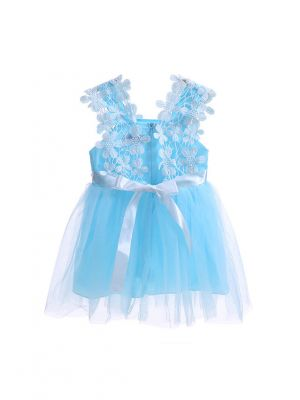 New Girl Blue Lace Tulle Princess Dress