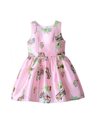 Kids Character Printed Pattern Casual Dress