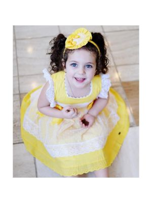 Easter Yellow Girl Dress