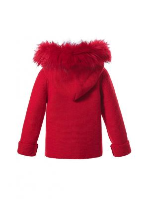 Winter Warm Red baby Sweater Coat With Detachable Hat