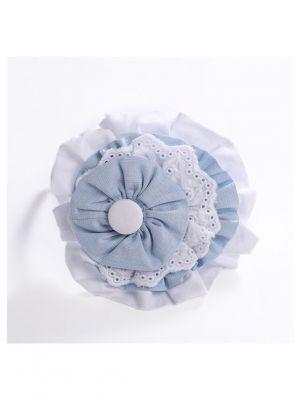 Light Blue + White Headband
