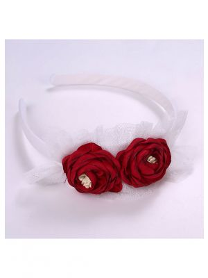 Charming Red Roses Headband