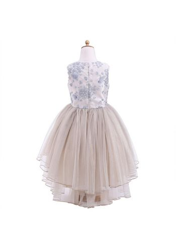 New Arrival Embroidered Round Neck Kids Fashion Dress